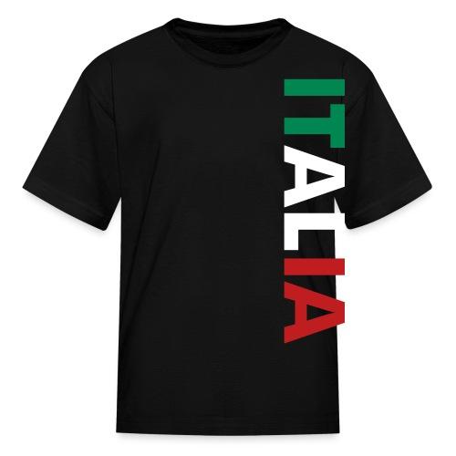 Kids ITALIA Tricolore, Black - Kids' T-Shirt