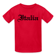 Kids' Shirts ~ Kids' T-Shirt ~ Kids Italia Gothic, Red