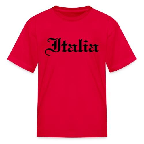 Kids Italia Gothic, Red - Kids' T-Shirt