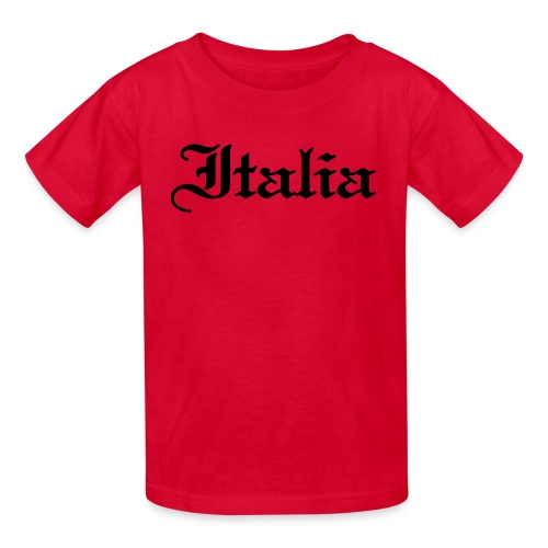 Kids Italia Gothic, Red - Kids' T-Shirt