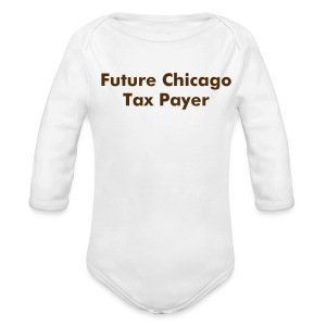 Baby:  Future Tax Payer - Long Sleeve Baby Bodysuit