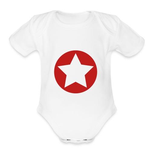 Inverted Star One size - Organic Short Sleeve Baby Bodysuit