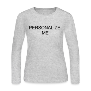 PERSONALIZE ME - Women's Long Sleeve Jersey T-Shirt