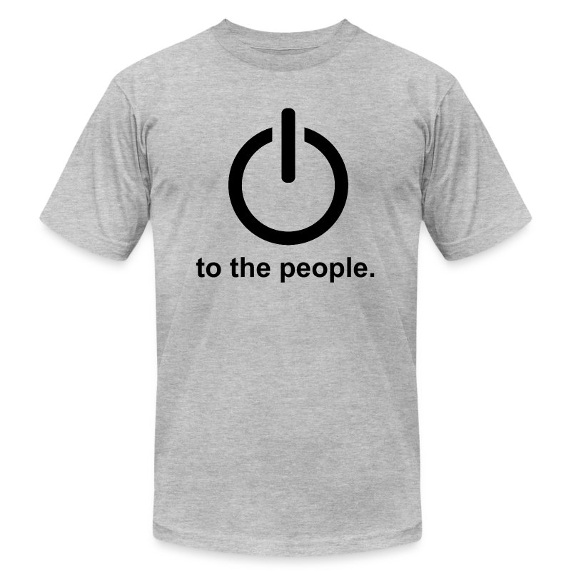 Power To The People. - Men's T-Shirt by American Apparel