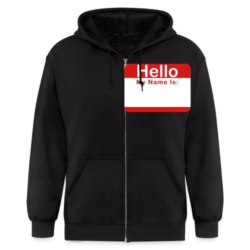 Hello my name is... Zip-up Hoodie - Men's Zip Hoodie