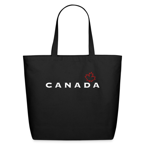 Canada with Leaf Outline - Eco-Friendly Cotton Tote