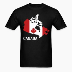 Black Canada flag map Men