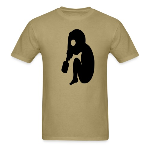Baby Gas Mask Tan - Men's T-Shirt