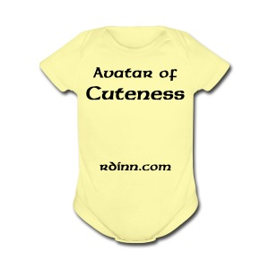 Avatar of Cuteness One size - Short Sleeve Baby Bodysuit
