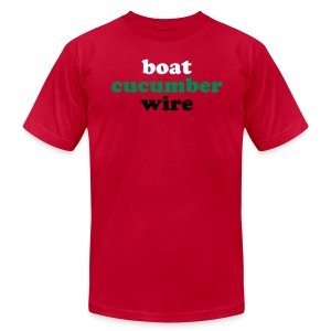 Boat Cucumber Wire Sky Blue T-Shirt. - Men's T-Shirt by American Apparel