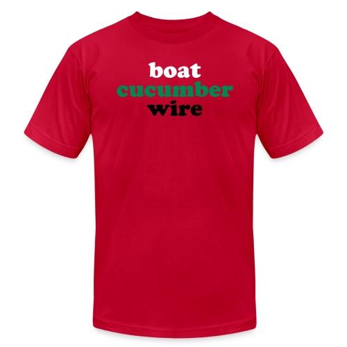 Boat Cucumber Wire Sky Blue T-Shirt. - Men's Fine Jersey T-Shirt
