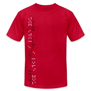 I love you (Braille) - Men's Fine Jersey T-Shirt