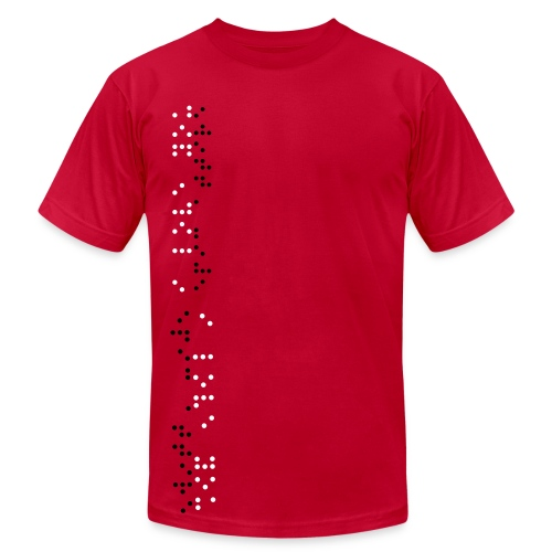 I love you (Braille) - Men's  Jersey T-Shirt