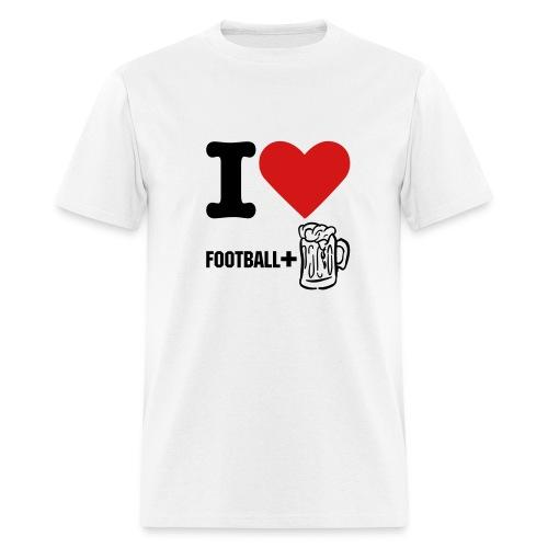 I like football+beer - Men's T-Shirt