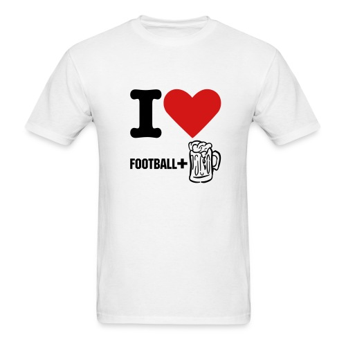I like football+beer - Men's T-Shirt