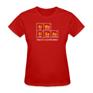 T-Shirts ~ Women's T-Shirt ~ Classic Periodic Table [elements]