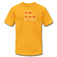T-Shirts ~ Men's T-Shirt by American Apparel ~ Classic Periodic Table [elements]