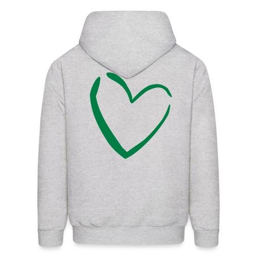 Green is in-Back Heart Sweatshirt - Men's Hoodie