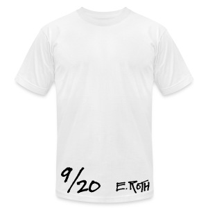 Signed and Numbered - 9/20 - Men's T-Shirt by American Apparel