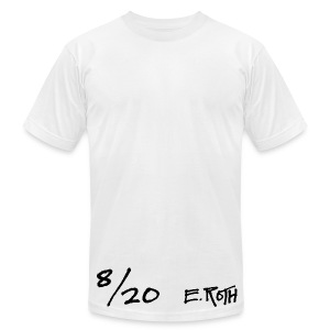 Signed and Numbered - 8/20 - Men's T-Shirt by American Apparel