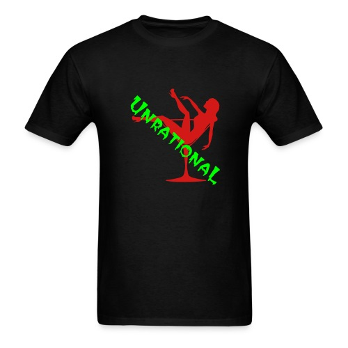unrational Girl in Glass - Men's T-Shirt