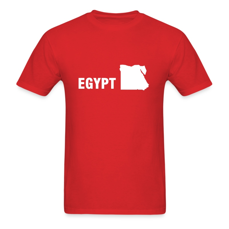 Red Egypt map Men - Men's T-Shirt