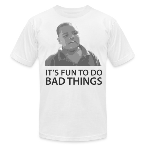 It's Fun To Do Bad Things - Men's T-Shirt by American Apparel