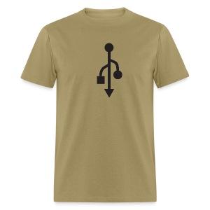 USB Tee (black logo) - Men's T-Shirt