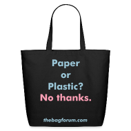 Bags & backpacks ~ Eco-Friendly Cotton Tote ~ Paper or Plastic?