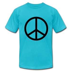 BEBOP mens peace t-shirt - Men's Fine Jersey T-Shirt