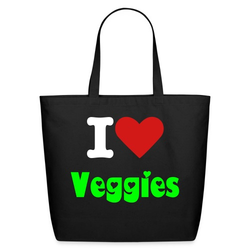 I 'Heart' Veggies Bag - Eco-Friendly Cotton Tote