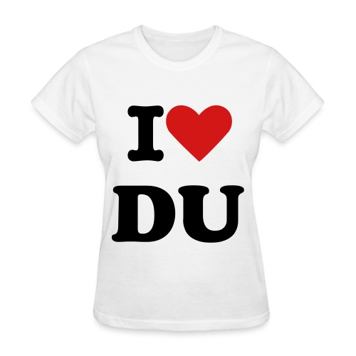 i love DU- junior sizes - Women's T-Shirt