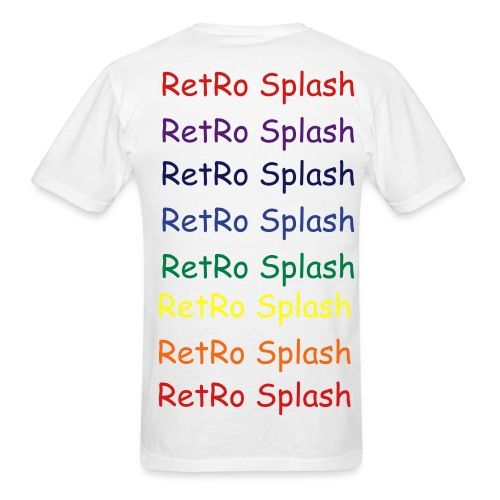 Retro Splash Rainbow logo - Men's T-Shirt