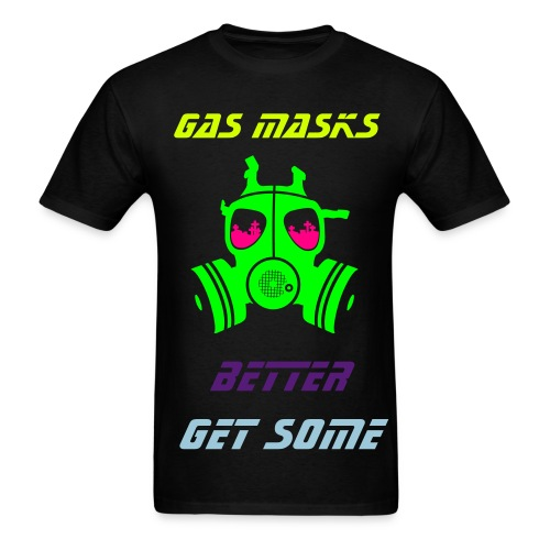 Retro Splash Get Some Gas Masks - Men's T-Shirt
