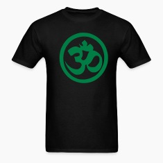 Black Om Symbol - Buddhism - Yoga Men