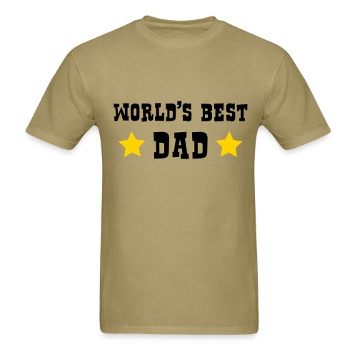 Worlds Best Dad T- Shirt - Men's T-Shirt