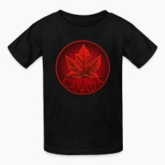 Canada Souvenir Kids T-shirt Canadian Maple Leaf T-shirt
