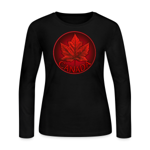 Women's Canada Souvenir Shirt Long Sleeve Jersey Maple Leaf T-shirt - Women's Long Sleeve Jersey T-Shirt