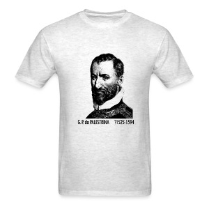 Palestrina Portrait - Ash - Men's T-Shirt