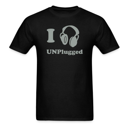 I listen to UNP in black and silver - Men's T-Shirt