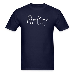 Einstein's Half Step Theory - Men's T-Shirt