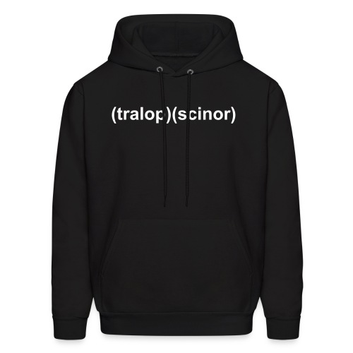 Tralopscinor Black Hooded Sweat Shirt  - Men's Hoodie