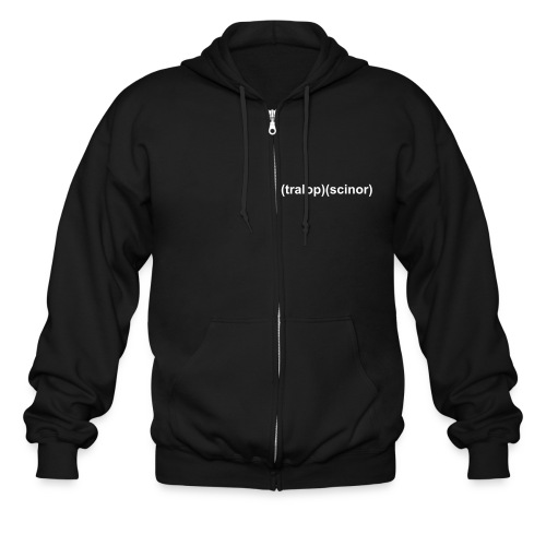 Tralopscinor Black Zipper Sweat Shirt  - Men's Zip Hoodie