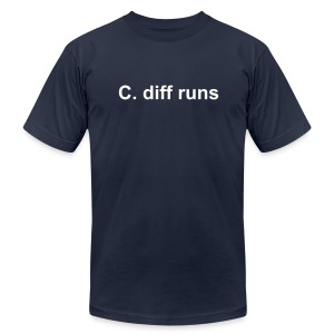 C. diff runs - Men's T-Shirt by American Apparel
