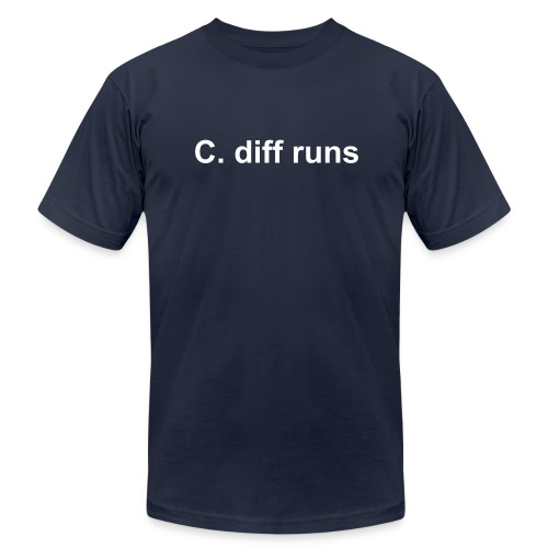 C. diff runs - Men's Fine Jersey T-Shirt