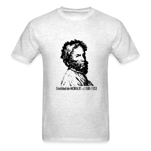 Morales Portrait - Ash - Men's T-Shirt