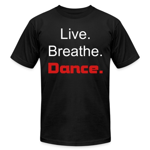 Men's Tee AA Brand- Live.Breathe.Dance. - Men's Fine Jersey T-Shirt