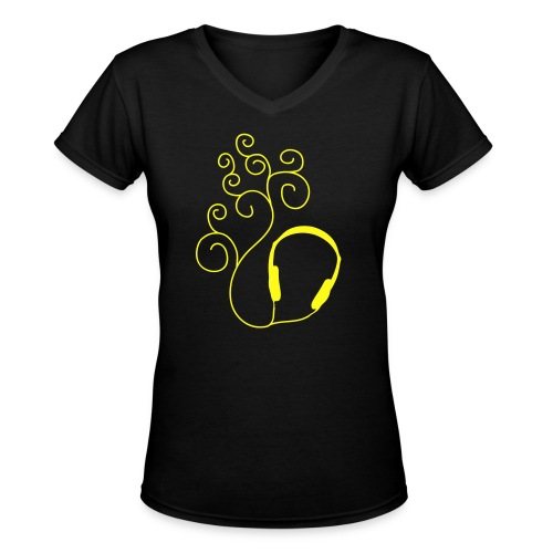 Listen Tee - Women's V-Neck T-Shirt