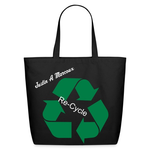 Justin A Marcoux Re-Cycle Cotton Tote Bag - Eco-Friendly Cotton Tote