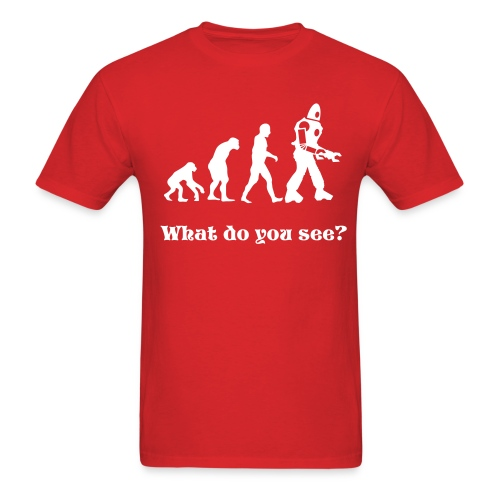 Evolution? Cotton T - Men's T-Shirt